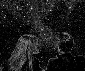 stars, couple, and boy image