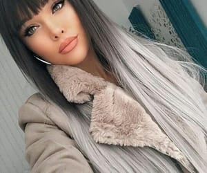 hair, hair style, and cabelo liso image