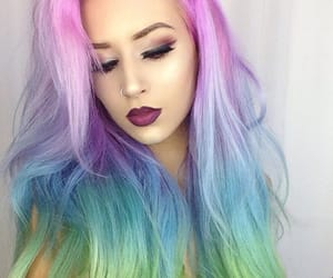 cabelo colorido, color, and hair image