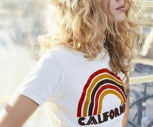 hair, blonde, and california image