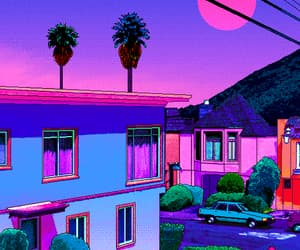 80s, moon, and retro image