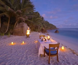 beach, romantic, and vacation image