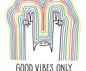 good, positivity, and rainbow image