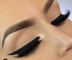 eyeliner, eyes, and lips image