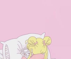 anime, pink, and sailor moon image