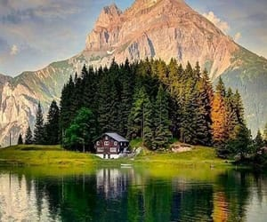 nature, house, and landscape image