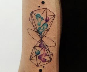 geometric, hourglass, and old school image