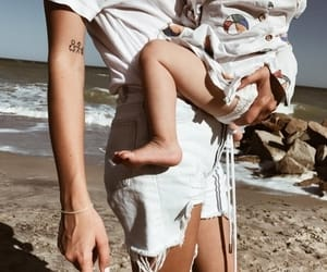 baby, tattoo, and couple image