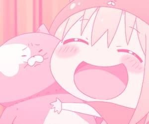 anime, pink, and gif image