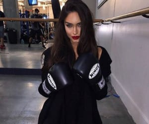 girl, boxing, and beauty image