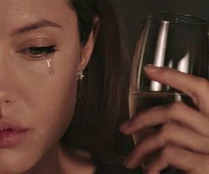 Angelina Jolie, sad, and cry image