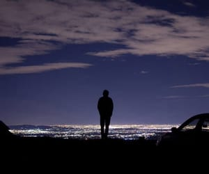 night, city, and dark image