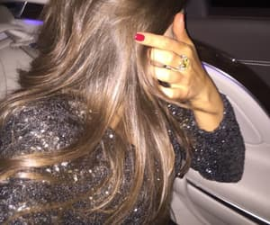 brunette, nails, and style image