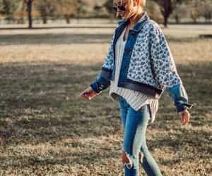 denim jacket, fashion, and inspiration image