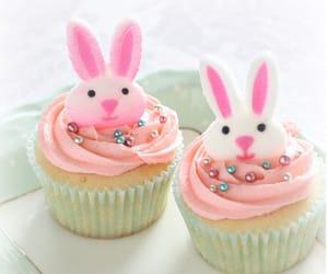 bunny, spring, and cupcake image