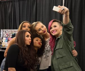 demi lovato, jesy nelson, and perrie edwards image