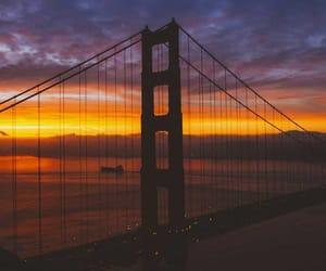 bridge, sunrise, and california image