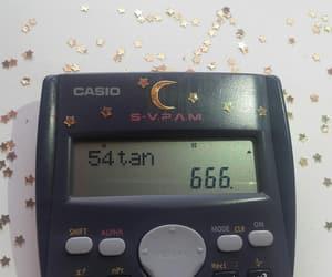 666, calculator, and satan image