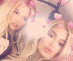 kylie jenner, sisters, and khloe kardashian image