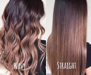curly, hairstyles, and straight hair image