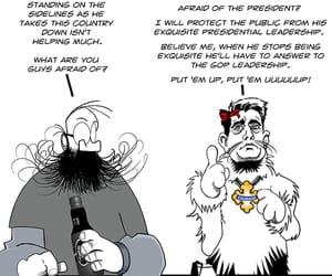 cowardly lion, republicans, and political cartoon image