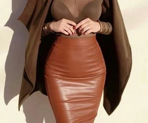 autumn, brown, and leather image