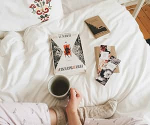 bed, tea, and book image