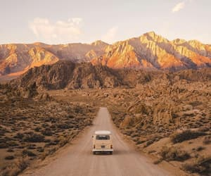 car, mountain, and photography image