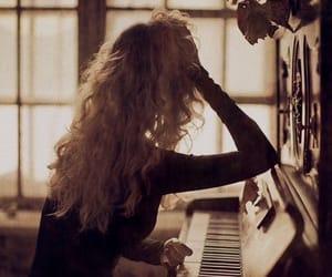 piano, music, and hair image