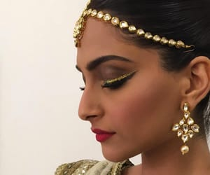 beauty, bollywood, and gold image