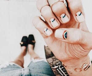 rainbow, beauty, and nails image