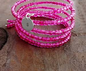 boho, hot pink, and pink jewelry image