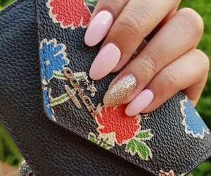 coach, pinknails, and acrylicnails image