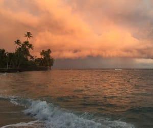 beach, sea, and orange image