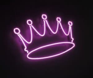 crown, light, and neon image
