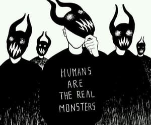 monster, humans, and black image