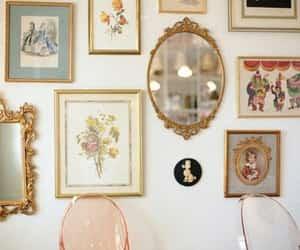 mirror, vintage, and pastel image