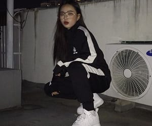 asian, asian girl, and black image