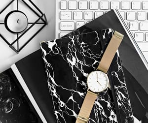 gold, laptop, and marble image
