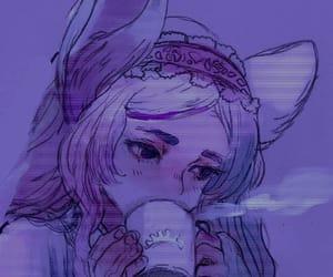 anime girl, sadness, and cutie image