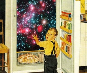 galaxy, food, and fridge image