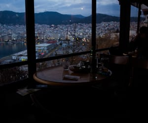 blue hour, photography, and cafe image