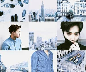 blue, moodboard, and exo image