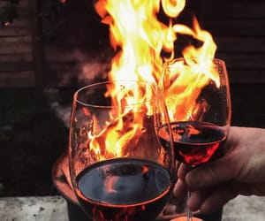 wine, fire, and red image