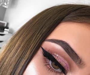makeup, eyeliner, and beautiful image