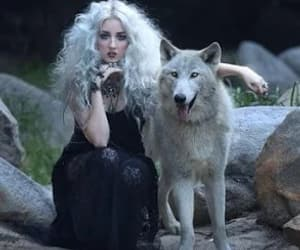 girl, lobo, and wolf image