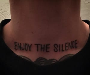 tattoo, grunge, and silence image