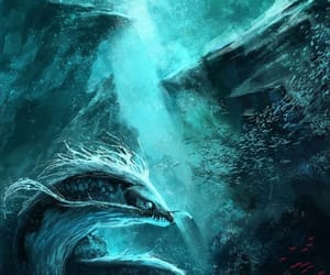 fantasy, mystic, and sea monster image