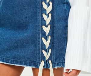 denim, skirt, and fashion image