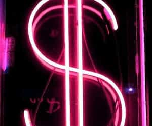 money, pink, and neon image